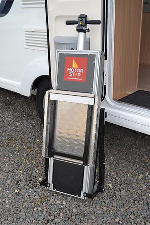 motorised RV steps, motor steps, disabled motor steps, caravan steps