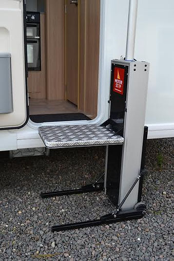 disabled caravan motor steps for home use or caravan motorhome
