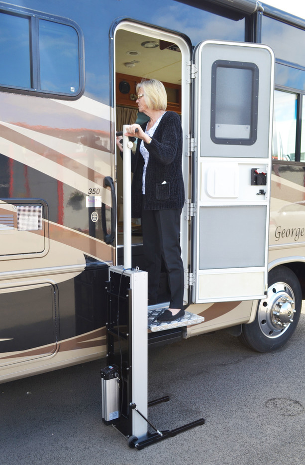 5th Wheel RV step lift for disabled person