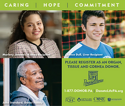We are proud to support DonateLife PA_ed