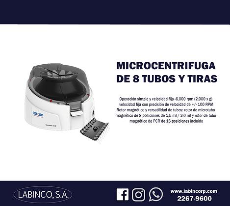 Microcentrifuga de 8 tubos