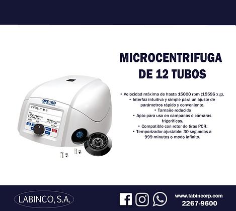 Microcentrifuga de 12 tubos