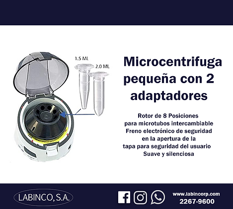 Micro centrífuga pequeña