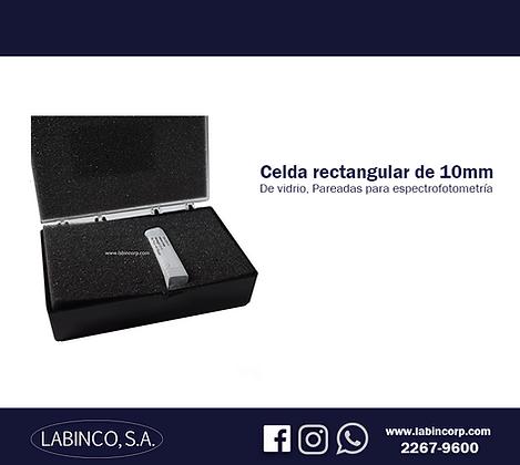 Celda rectangular de vidrio 10mm