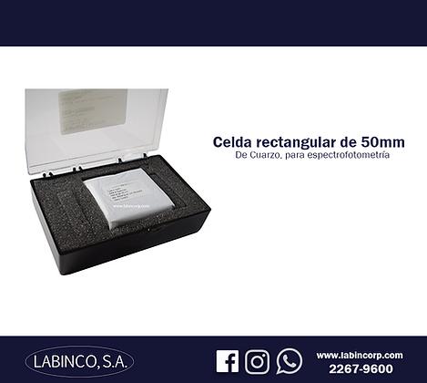 Celda rectangular de cuarzo 50mm