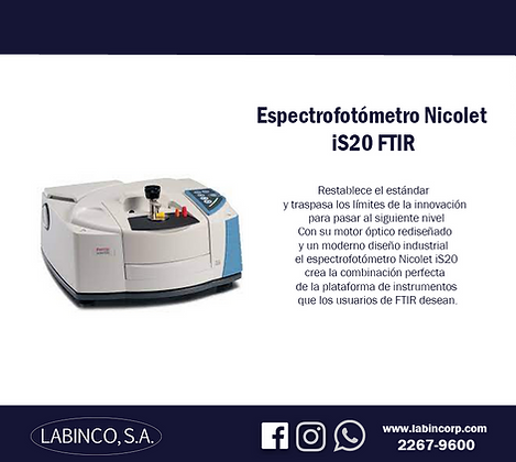 Espectrofotómetro iS20 FTIR