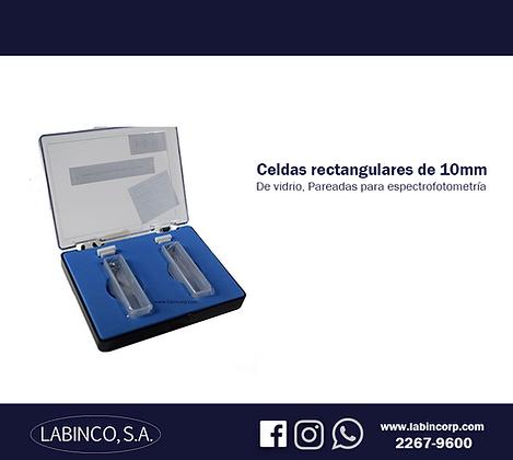Celdas rectangulares de vidrio de 10mm