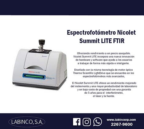 Espectrofotómetro FTIR Summit LITE