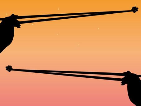 【連載】切り絵でみる仏教説話 No3. 三尺三寸箸
