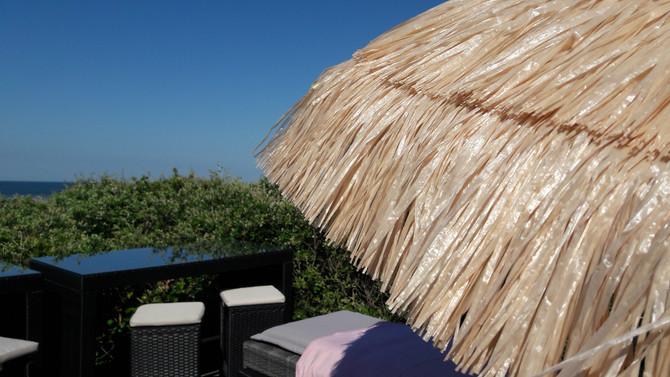Temps merveilleux ! Ce matin, 1 massage vue mer, champs des oiseaux, et papillons !