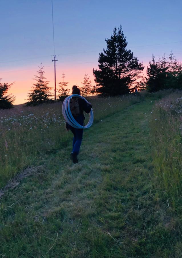 Sunset trip to flowjam