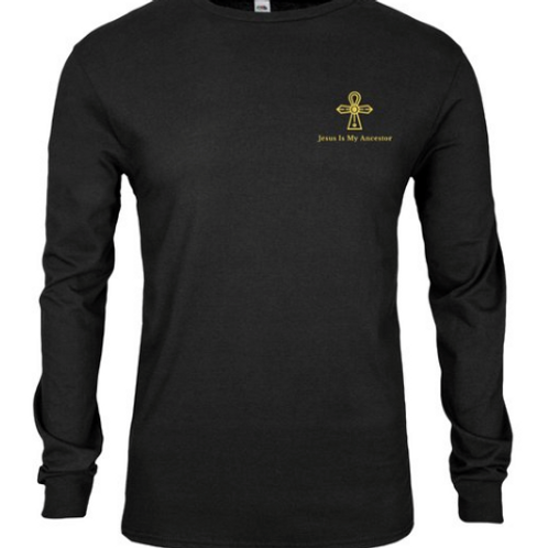 Long Sleeve T-Shirt with Gold Logo