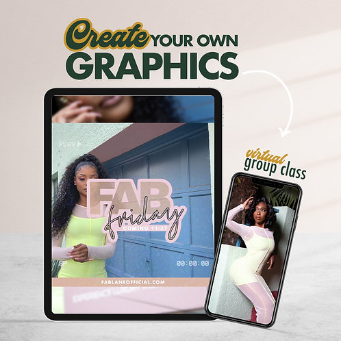 Class: CREATE YOUR OWN GRAPHICS CLASS