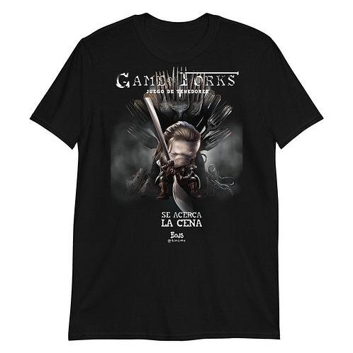 Game of Forks - Black Short-Sleeve Unisex T-Shirt