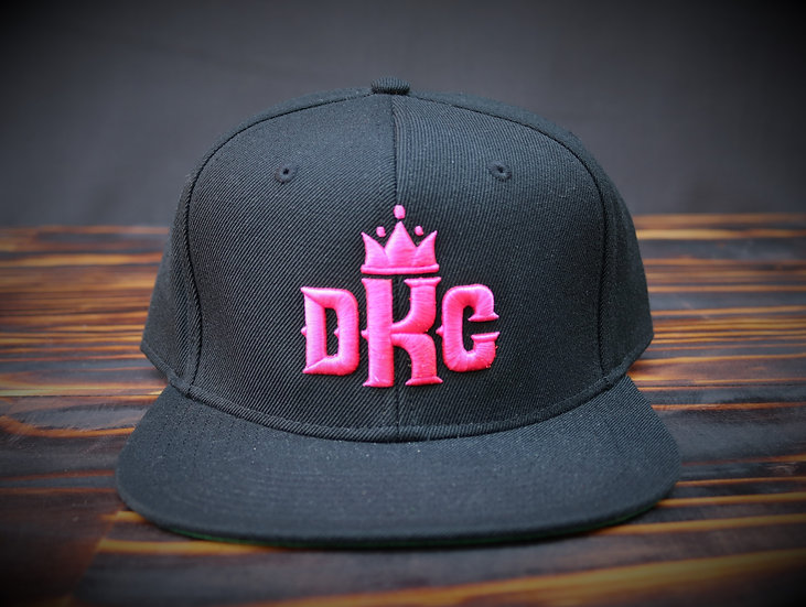 Dead Kings Pink on Black Snapback