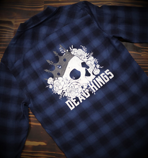 Limited Edition Unisex Blue Crown Flanno