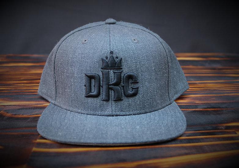 Dead Kings Black on Charcoal Snapback