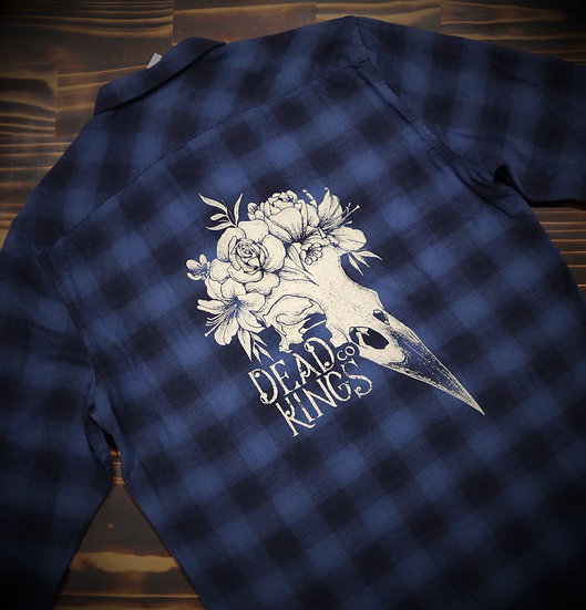 Limited Edition Unisex Blue Crow Flanno