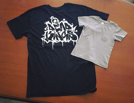 Dead Kings Collective XXL shirts vs kids size 2 shirts