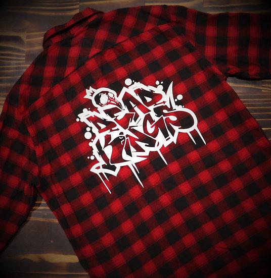Limited Edition Unisex Red Graffiti Flanno