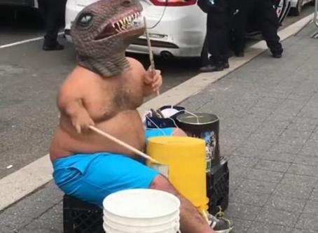 T. Rex the Bucket Drummer Needs KFC