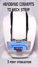 Eye Shhoter Headband Converts to a Neck Strap for Hand Held Steady Video with your cell phone.