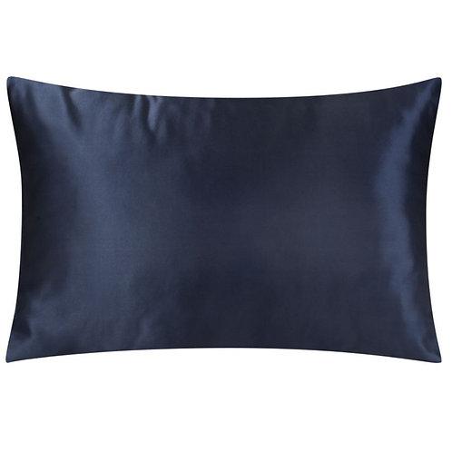 Navy Blue Satin Pillowcase