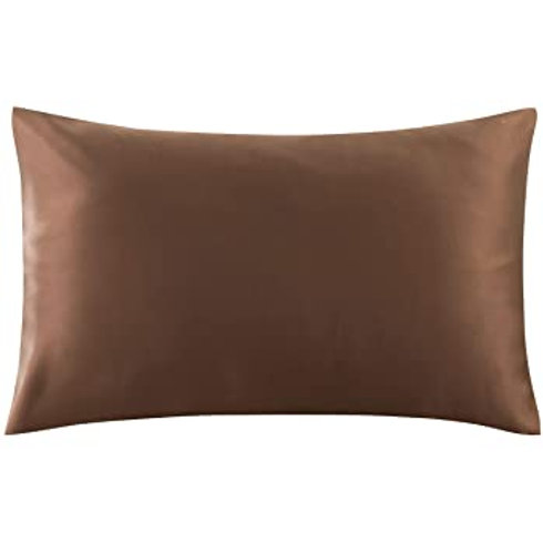 Chocolate Brown Satin Pillowcase