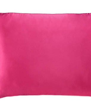 Flamingo Pink Satin Pillowcase