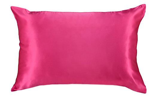 Flamingo Pink Satin Pillowcase