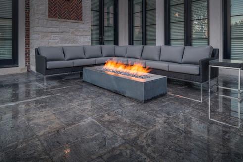 Concrete firepit