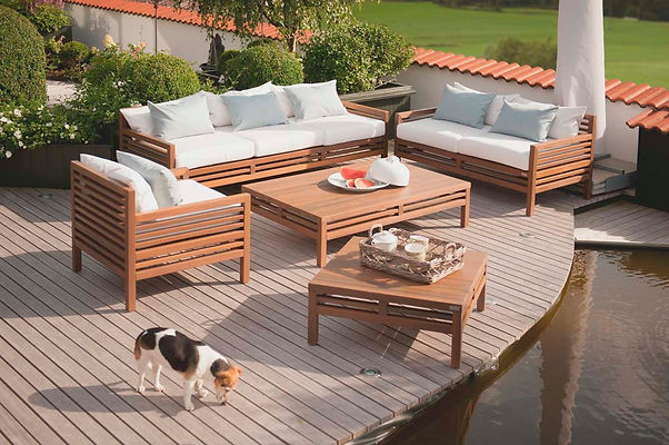 Longlife CUBIC LOUNGE matching outdoor furniture