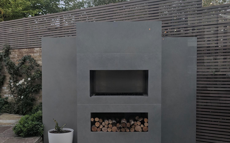 London Stone Display Fireplace