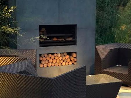 Escea EW5000 cooking fireplace