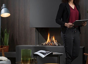 Urban Fires gas log fireplace