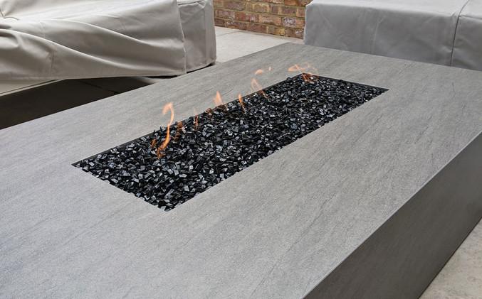 Bespoke Photon porcelain fire pits - Basalt Grey