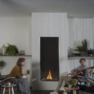Outdoor Vertical fireplaces