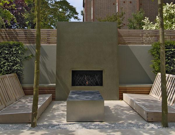 1000 wide outside gas fireplace