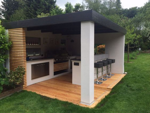 Outdoor spaces and kitchens
