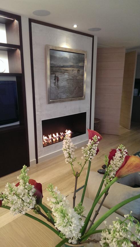 Bespoke bioethanol hole in wall fireplace