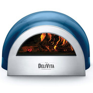 Dark blue pizza oven