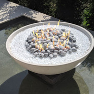 Astra Firebowl with Arctic pebbles
