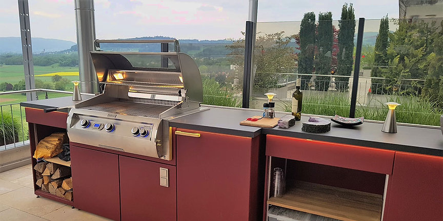 Fire Magic BBQ & Cubic outdoor kitchen