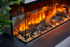 Urban Fires electric logs & slate fuel bed