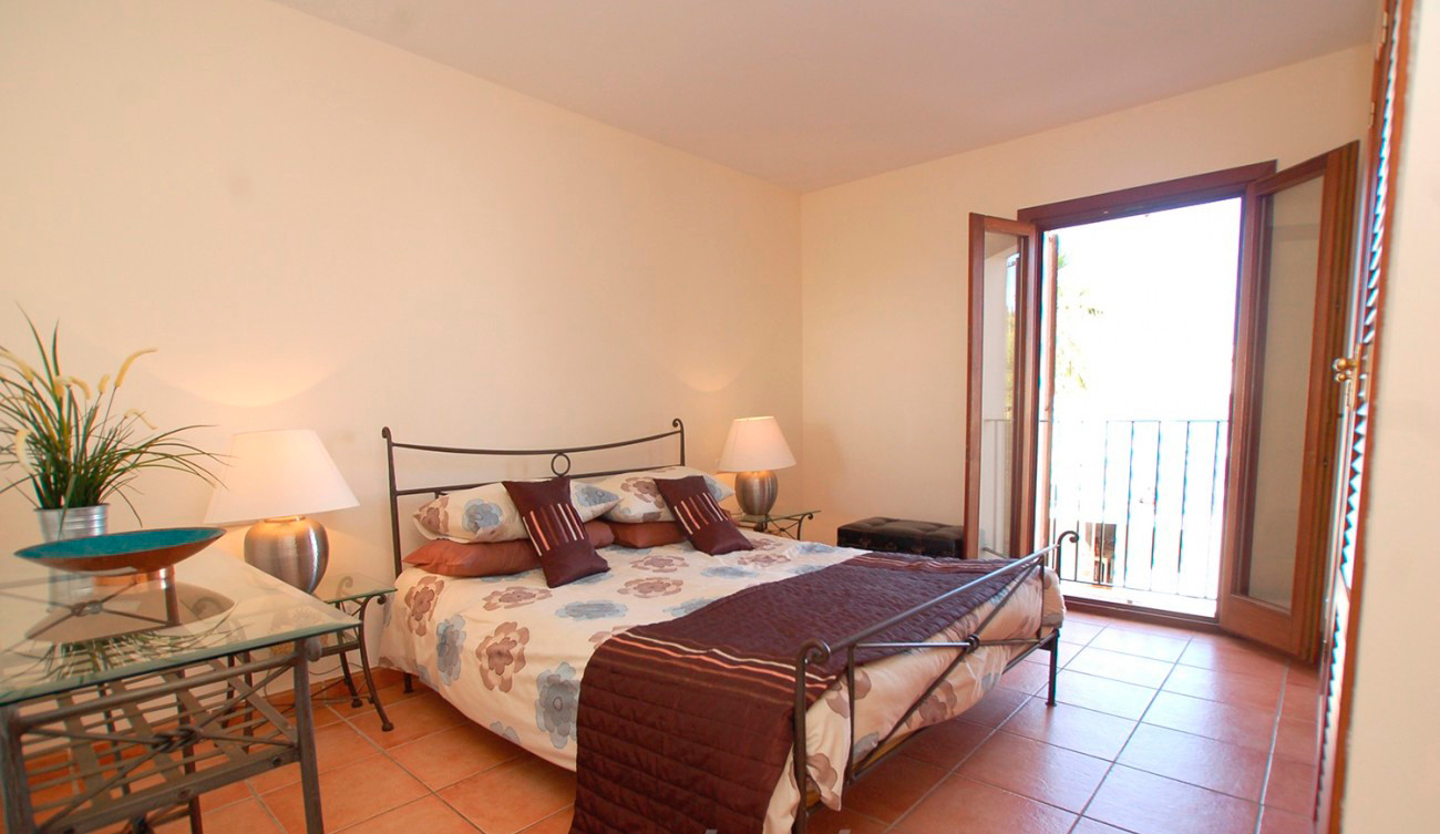 Master bedroom in Cala Dorada