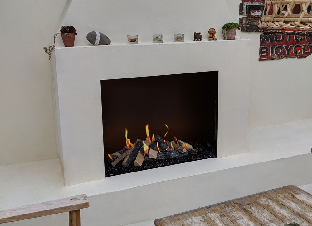 Traditional Outdoor Fireplace