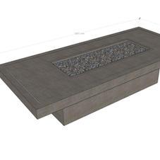 Bespoke Firetable Basalt Grey and inlay