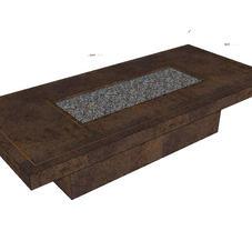 Bespoke Firetable  Iron Moss & Copper inlay