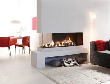 UF1400 Balanced flue gas room divider fireplace