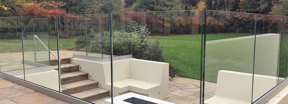 Marbleised engineered stone bespoke fire pit